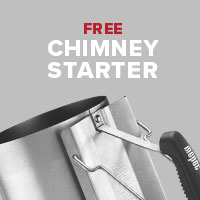 Get a free Chimney Starter Set with every Weber Master-Touch