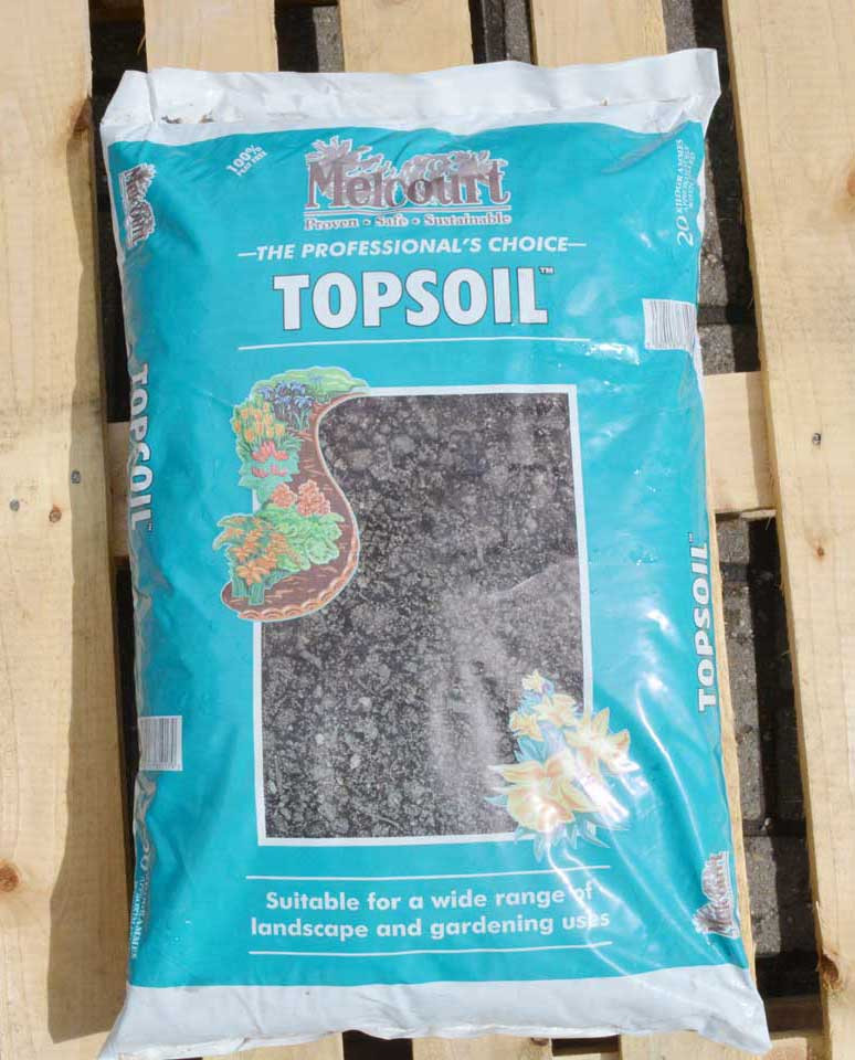 Tippers melcourt topsoil blended loam 20kg mini bag for Bags of topsoil