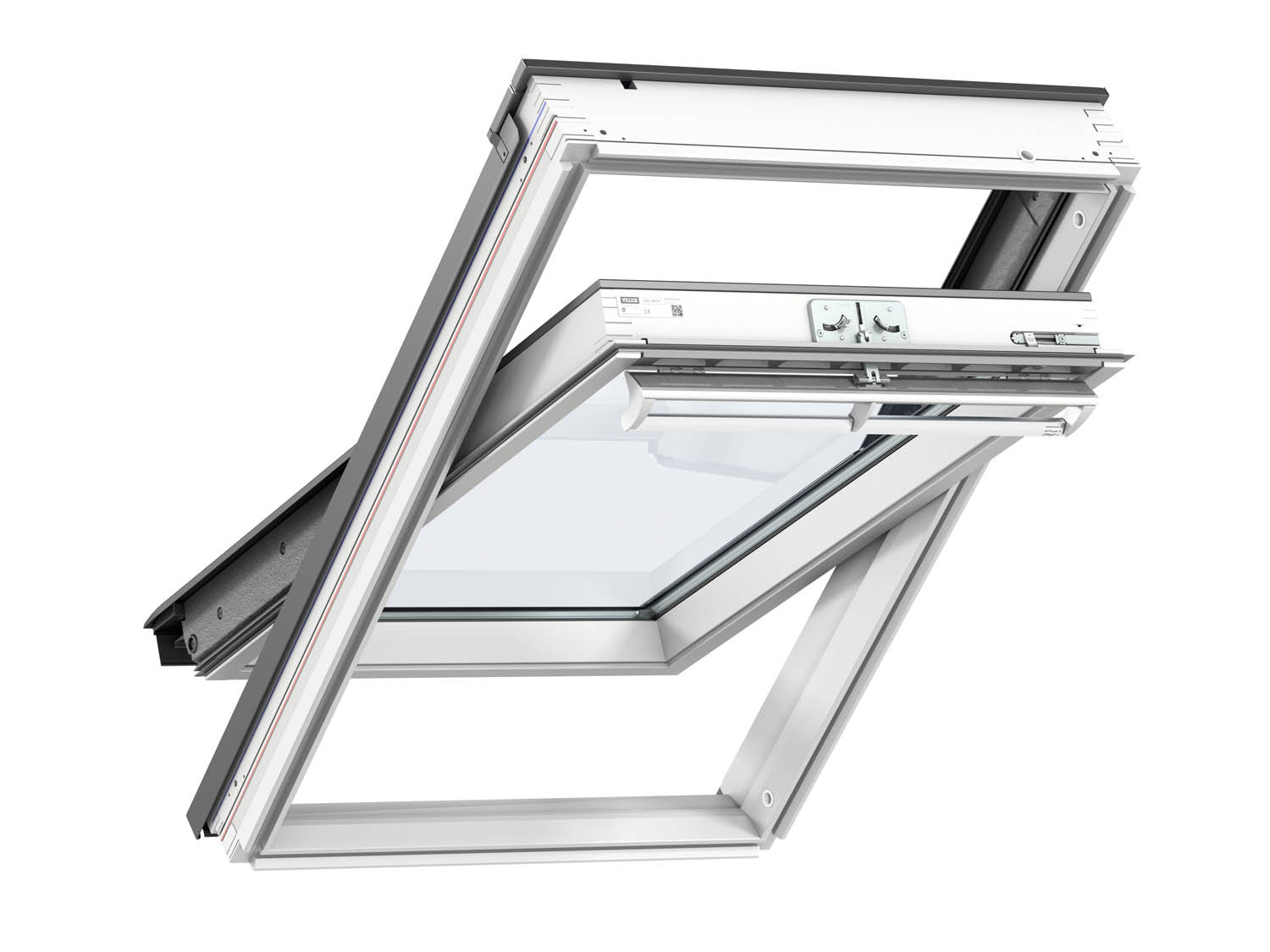 Velux 940mm x 1.6m White Roof Window GGL2070 PK10