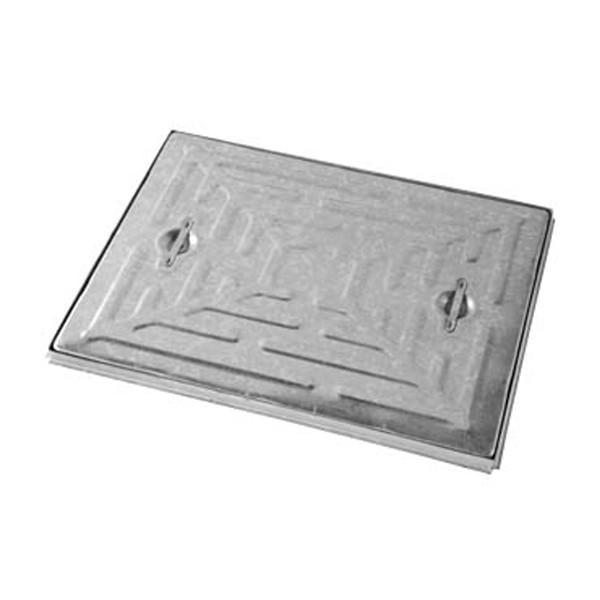 Cover & Frame - Single Seal - Galvanised Steel - 600 X 450 X 2.5t