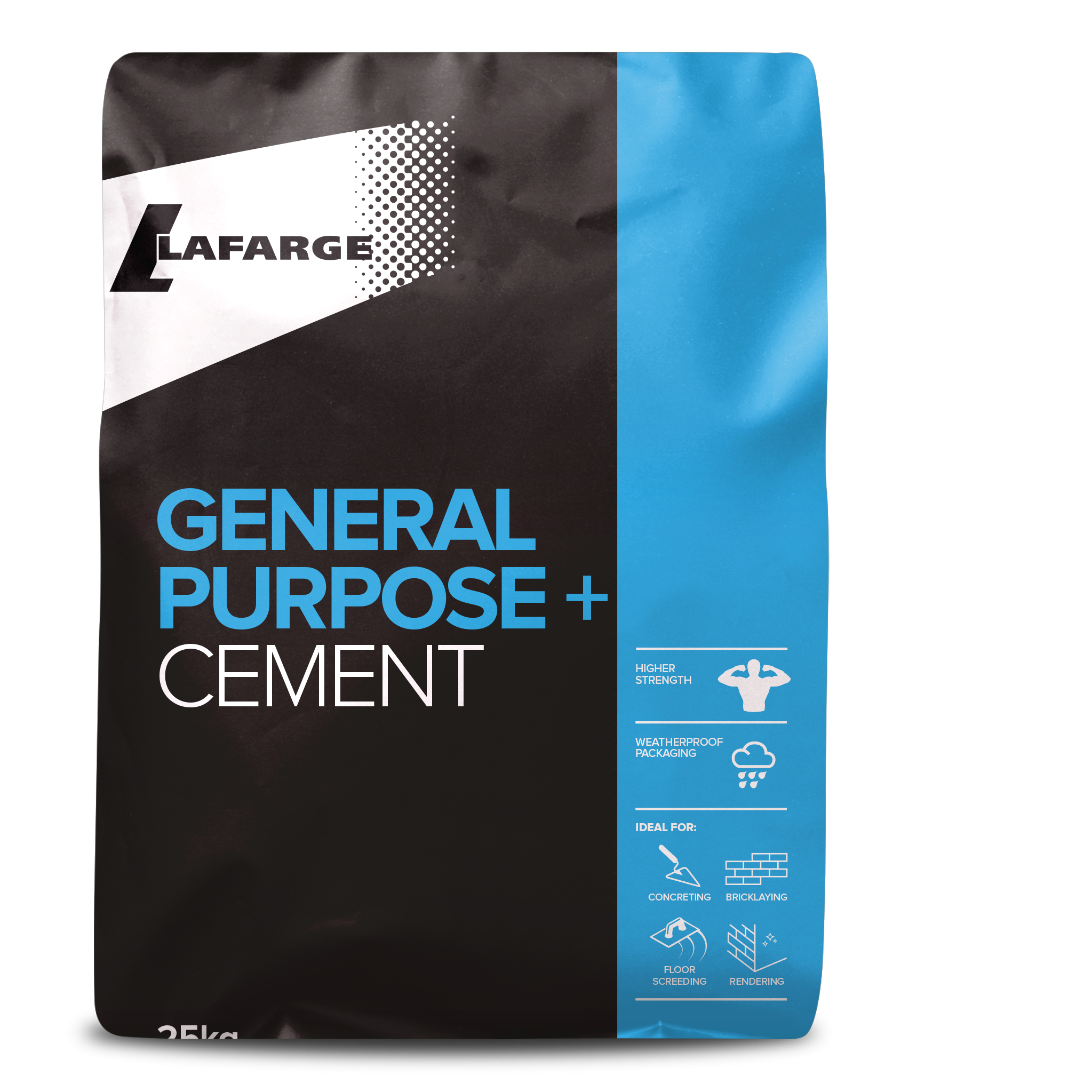 Lafarge General Purpose + 42.5N Plastic Cement 25kg Bag
