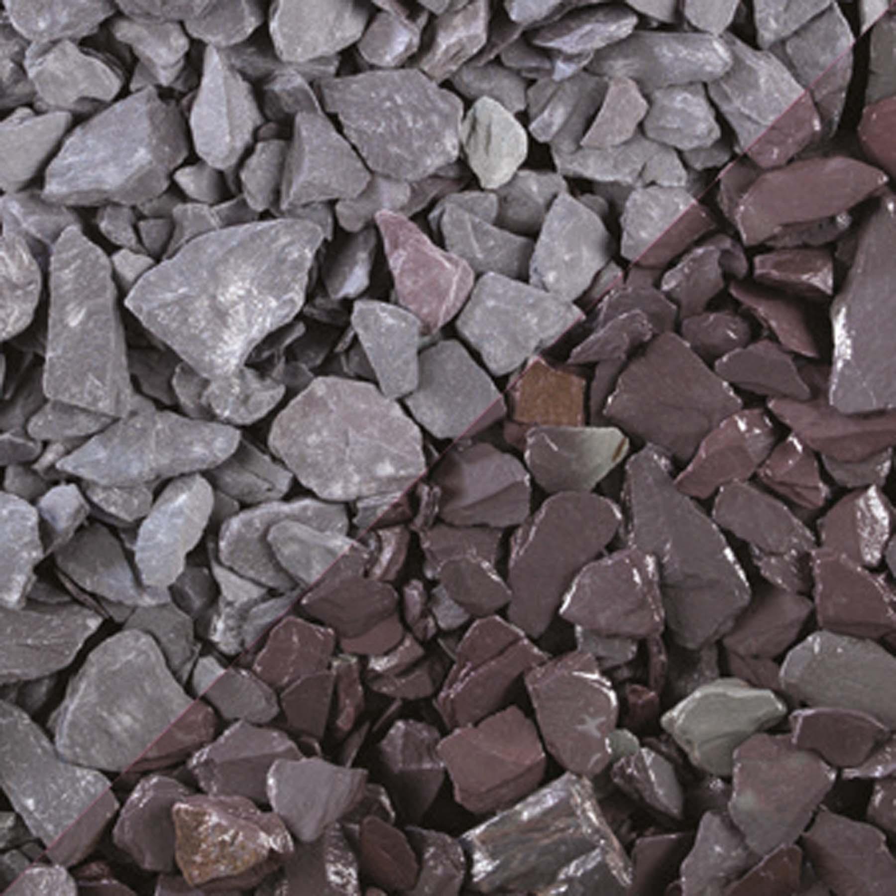 Tippers Celtic Plum Slate Bulk Bag 20mm Decorative Stones
