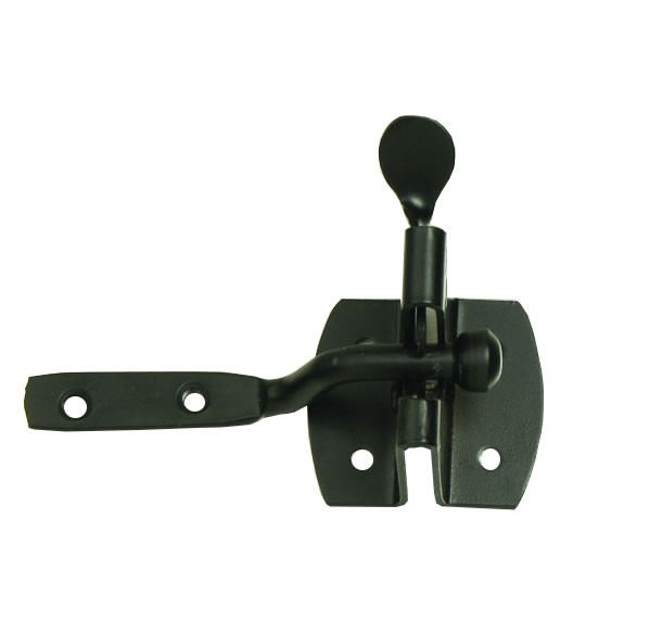 Dale Hardware 6181 Automatic Gate Latch Black