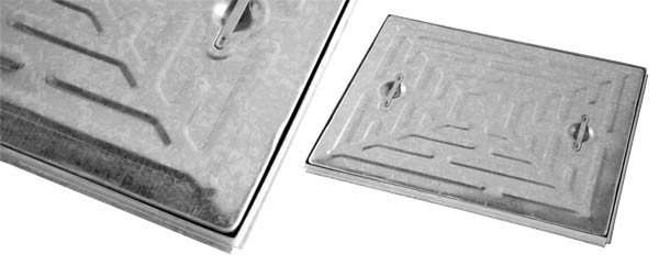 Wrekin 600x600x10t Pressed Galvanised Mild Steel Access Covers