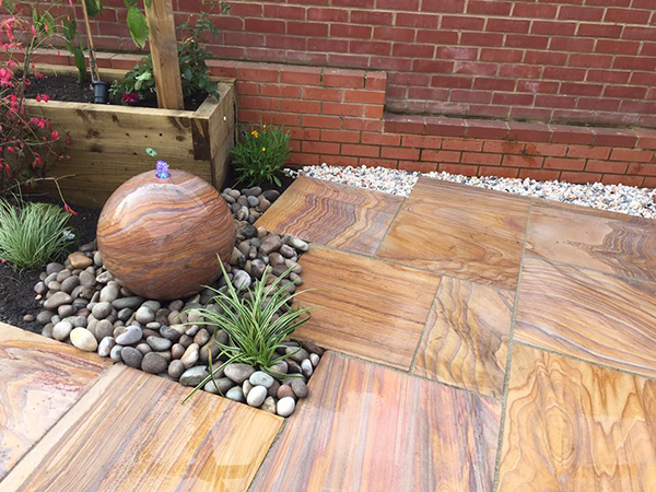 Ethan Mason EM Rainbow 15.3m2 Smooth Sandstone Paving Patio Pack EMRASPFK