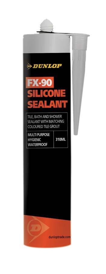 Dunlop FX-90 Mist Grey Silicone Sealant 310ml BAL25939
