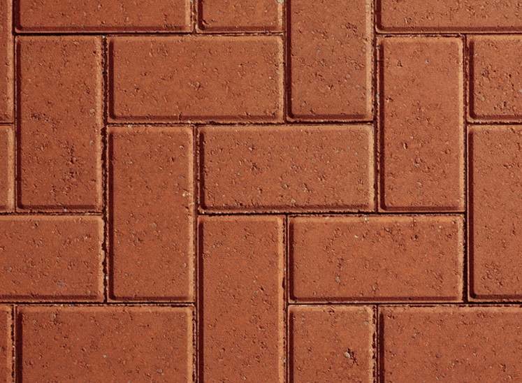 Plaspave Sixty Red 200x100x60mm Block Paving