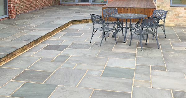 Ethan Mason EM Silver 15.3m2 Riven Paving Patio Pack EMSGNPFK