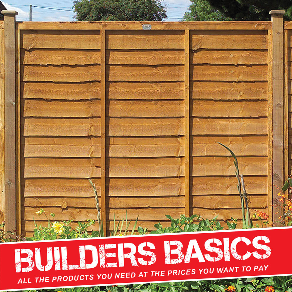 Waney Lap Fence Panel 1.8m x 1.5m