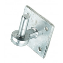 "Eliza Tinsley 8254342 ¾"" Pin Galvanised Gate Hanger On 4""x4"" Plate"