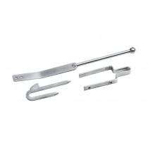 Eliza Tinsley 8326802 Galvanised Field Gate Spring Fastener Set Double Leg 75mm