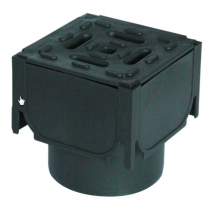 Aco Hexdrain Corner Unit With Vertical Outlet