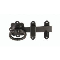 Dale Hardware 6185 152mm Twisted Ring Gate Latch Black