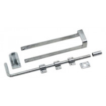 Eliza Tinsley 4102802 Galvanised Double Gate Fastener Set