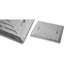 Wrekin 600x450x10t Pressed Galvanised Mild Steel Access Covers
