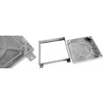 Wrekin 600x450x80 Galvanised Mild Steel Cover & Frame