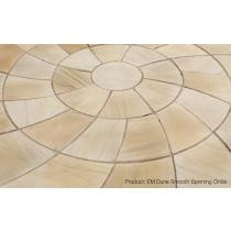 Ethan Mason Dune 2.46m Smooth Sandstone Spinning Circle Paving EMDUSSC