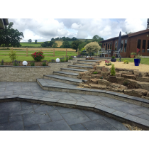 Ethan Mason EM Black Mix Limestone 15.3m2 Riven Paving Patio Pack EMBLNPFK