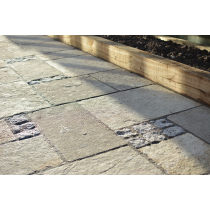Ethan Mason EM Yellow Mix Limestone 15.3m2 Riven Paving Patio Pack EMYLNPFK