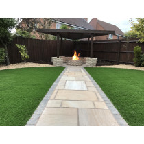 Ethan Mason Gurdha Buff 15.3m2 Riven Sandstone Paving Project Pack EMPNSGB