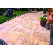 Ethan Mason Rainbow 15.3m2 Smooth Sandstone Paving Project Pack EMPSSRB