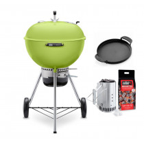 Weber Master-Touch GBS 57cm Charcoal Kettle Barbecue Spring Green 14511004