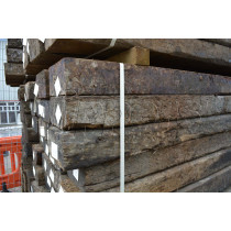 Reclaimed Commercial Wooden Sleepers 250mm x 125mm x 2.6m