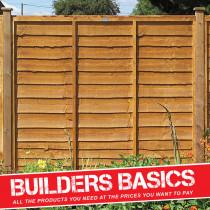 Waney Lap Fence Panel 1.8m x 1.8m