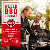 Certified by Weber 3 Hour Cookery Course - Saturday 15th June 2019 - 11am til 2pm