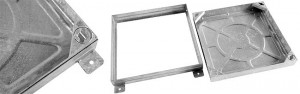 Wrekin 450x450x80 Galvanised Mild Steel Cover & Frame