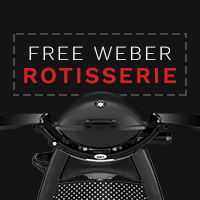 Free Rotisserie When You Buy a Weber Q2200 or Q3200 Gas Barbecue